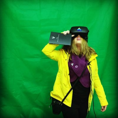 Hannah Maden-Adams enjoying Virtual Reality